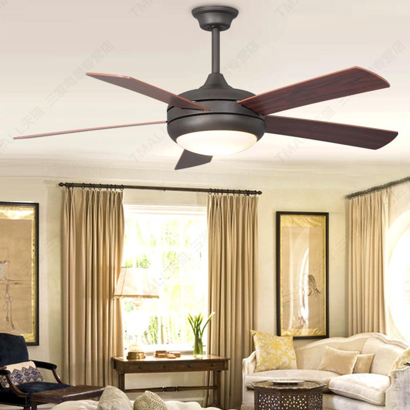 Simple-European-wood-blade-ceiling-fan-light-simple