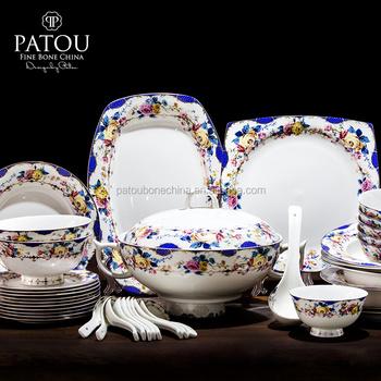 Customized modern tableware set bone china restaurant dinnerware & Customized Modern Tableware Set Bone China Restaurant Dinnerware ...