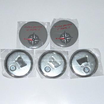 oem tin bottle opener fridge magnet round shaped 58mm size magnetic bottle opener - Magnetic Bottle Opener
