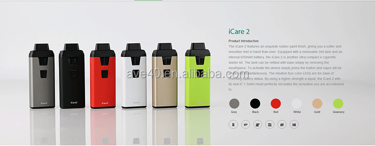 New Electronic Cigarette Eleaf iCare 2 Kit with 650mAh 2ml atomizer