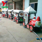 Shopping Mall Amusement Park Kids Ride Small Christmas Theme Santa Mini Electric Track Train Ride On Track Train For Sale