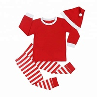 Kids Baby Boys Girls Family Matching Xmas Pajamas Sleepwear Homewear Set with Christmas Hat