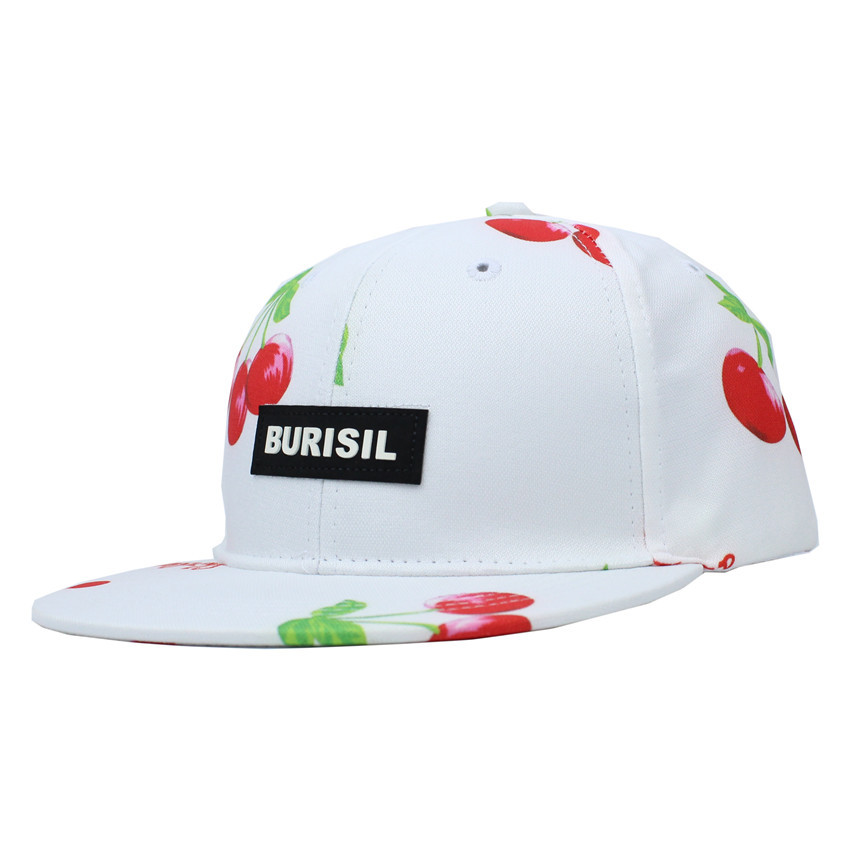 Children snapback baseball cap letters cherry hip hop cap gorras planas hip hop flat hat sun