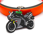 Factory directly price custom plastic pvc keychain waterproof key chain for motorcycle