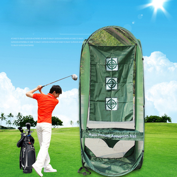 Foldable golf chipping net for swing practice U-shaped golf chipping net & golf chip netting