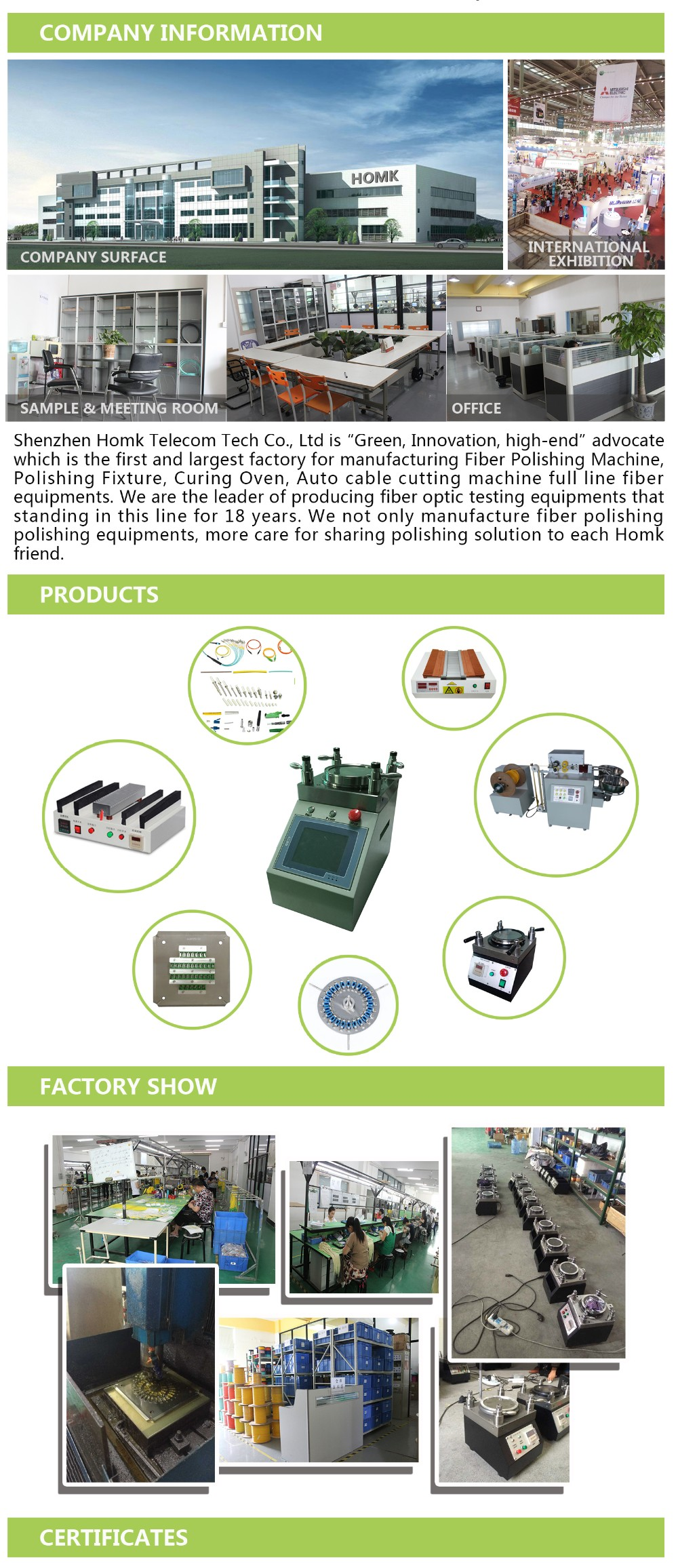 Fiber Optic Polishing Machine with Fiber Polishing Fixture