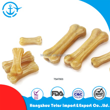 Natural/white pressed/expanded rawhide edible dog chew stick healthy dog treat bone