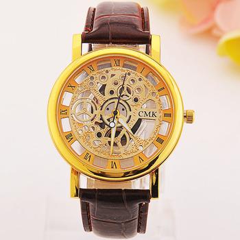 79ed639da9ae Los productos más vendidos 2015 diseño reloj esqueleto especial Relojes  hombres nuevo estilo reloj cuarzo hombre