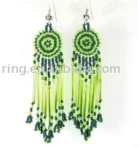 Green seed beads native beaded chandelier earrings buy green green seed beads native beaded chandelier earrings mozeypictures Choice Image