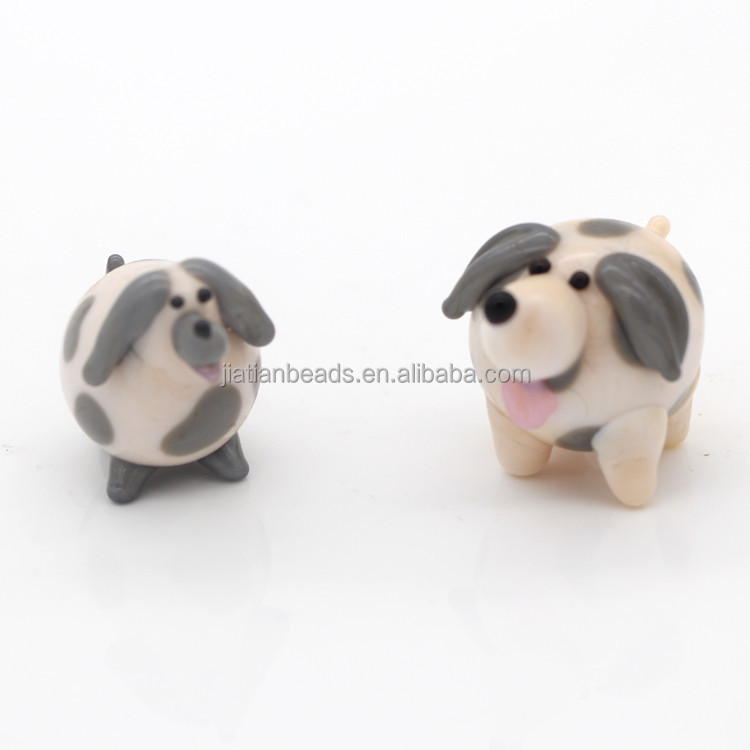 Best selling lampwork de vidro animal cão estatueta