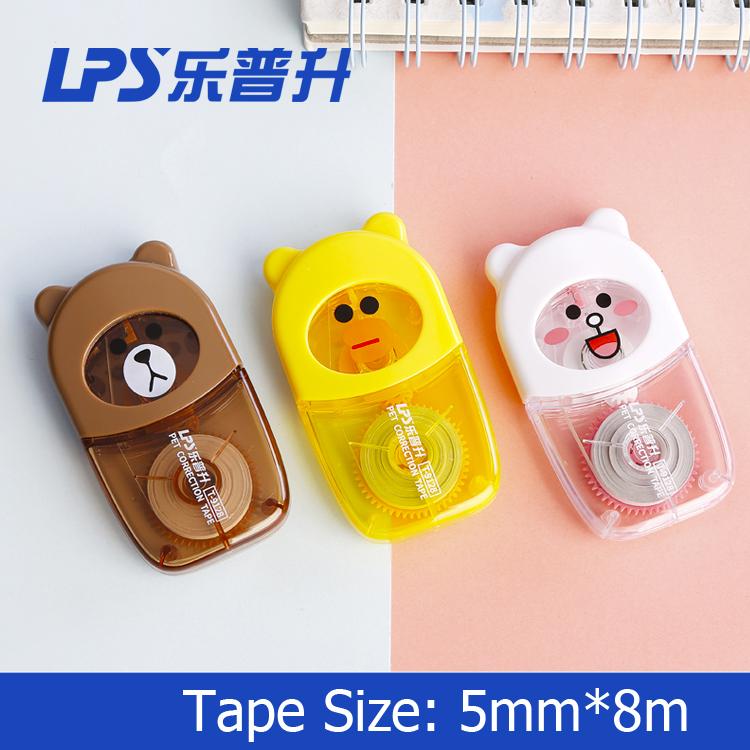 Cartoon Shape Cute Correction Tape Bear Student Stationery Brand New Correction Supplies Items