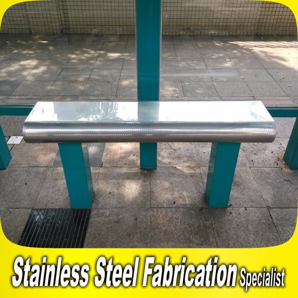 Stainless Steel Bench Seat Bus Subway