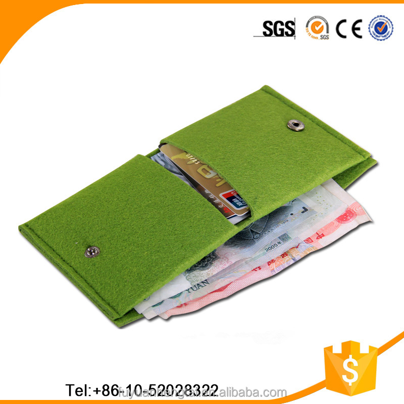 high quality lady felt wallet