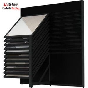 Sliding Showroom Marble Exhibition Display Stands Stone Tile Display Racks