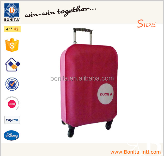 New design Luggage Cover to against dirt Non Woven baggage cover for protecting your suitcase