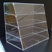 Clear Acrylic Classic Large Bakery Display Case, Cake Display Box Bin Rack
