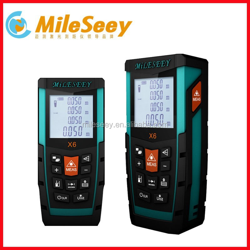 Portable Mileseey X6 50m handheld laser measuring devices digital angle measuring tool