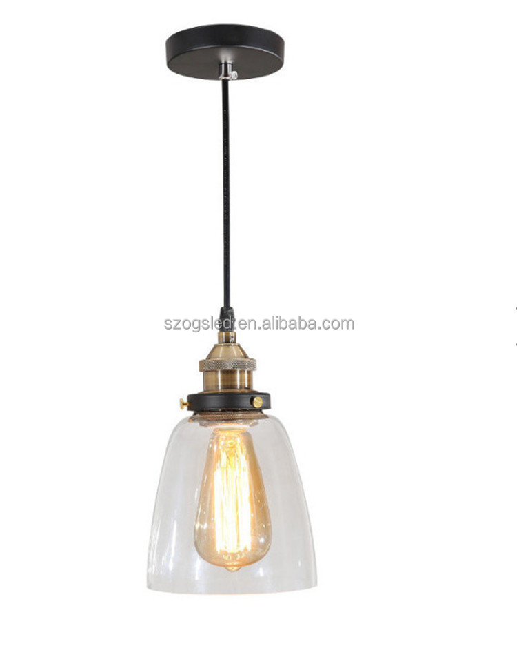 Wedding Decorations Home Hanging Glass Pendant Lamps Led Bulb Lighting Modern Pendant Light