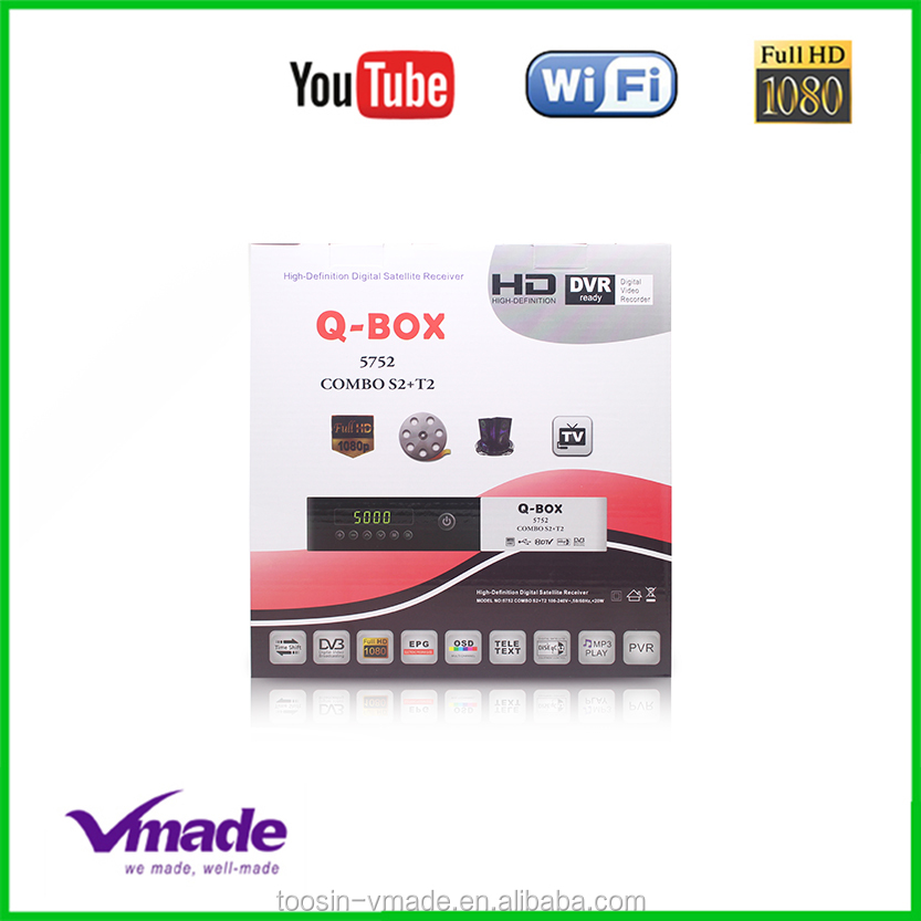 Vmade Q-BOX T2+S2 satellite reciever H.265 for German