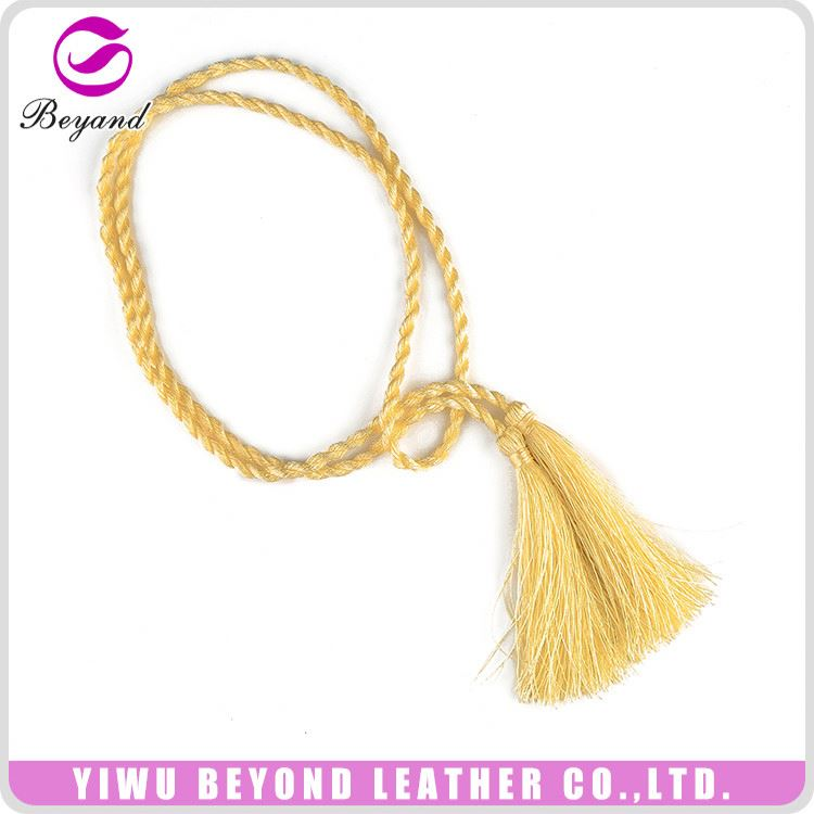 Simple design candy color long tassels for clothing wholesale