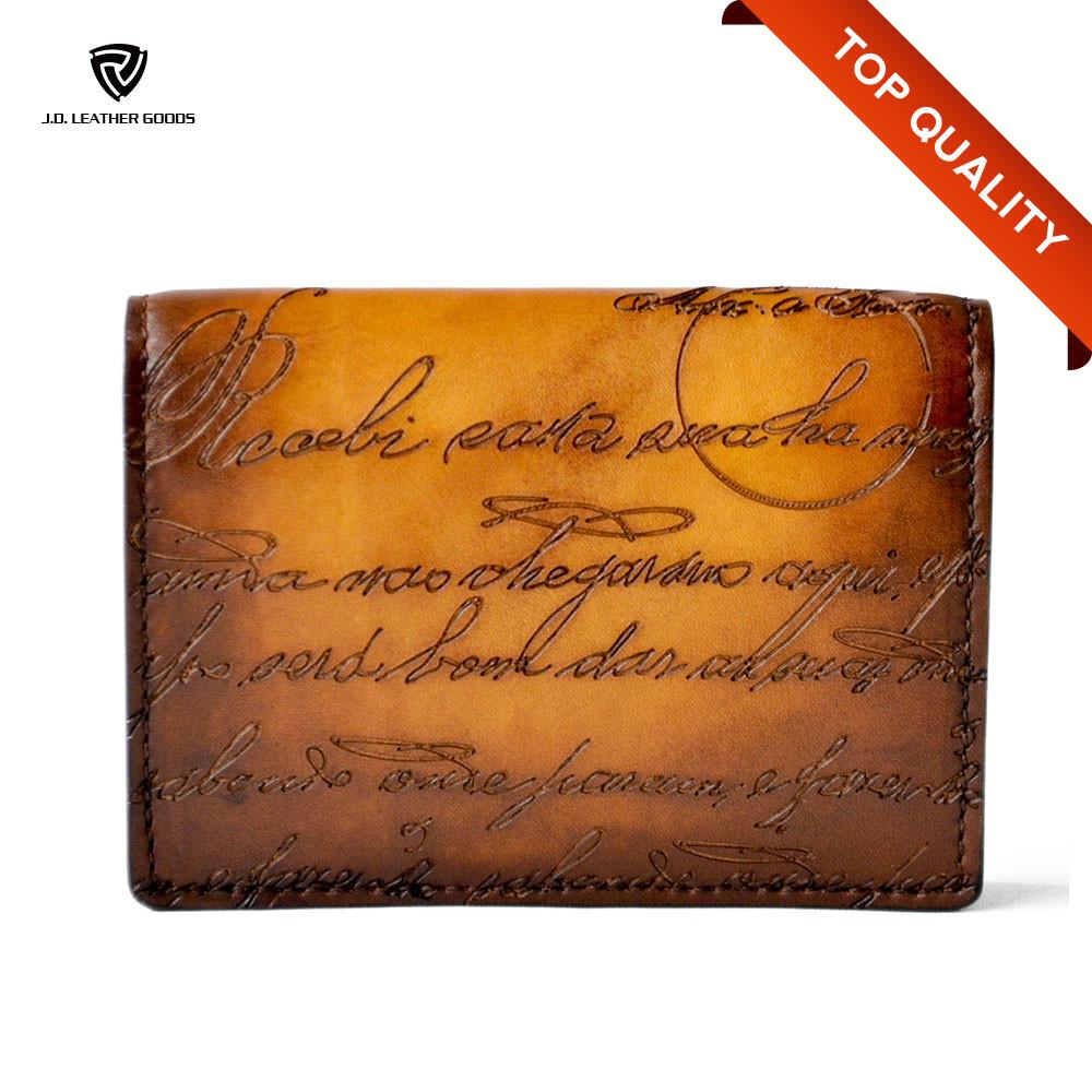Handmade Engraved Leather Business Card Holder/custom Luxury ...