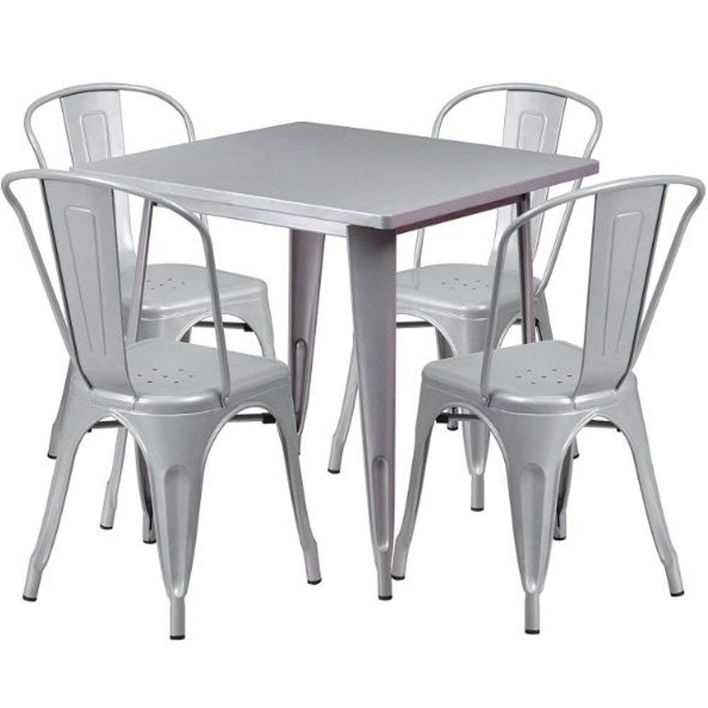 Get Quotations Gt Metal Patio Bistro Set White Small Porch Furniture Balcony Outside Table