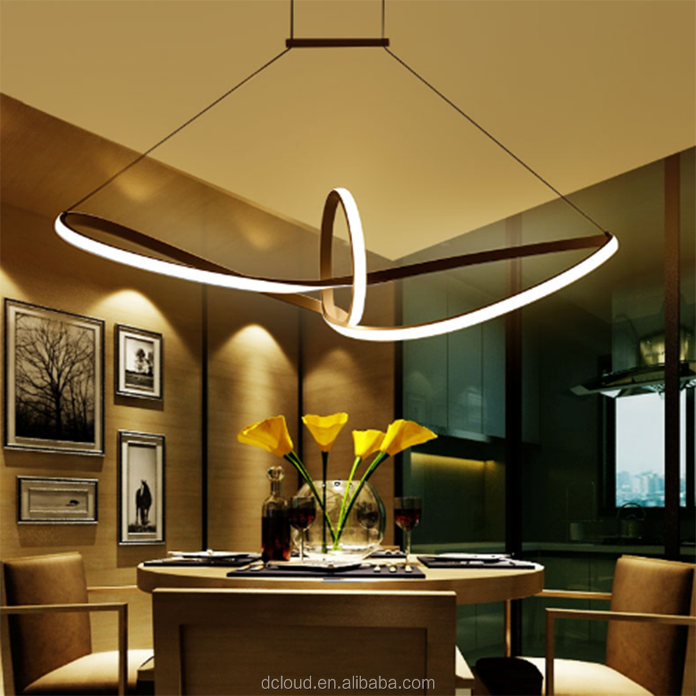 Dcloud Hot Selling Creative Dimming <strong>Modern</strong> LED Suspended Ceiling Light for Resturant Dining Hall Living room