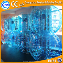 clear and blue color 1.2m,1.5,1.6,1.8m bubble football tpu,body zorb ball, human loopy ball for sales