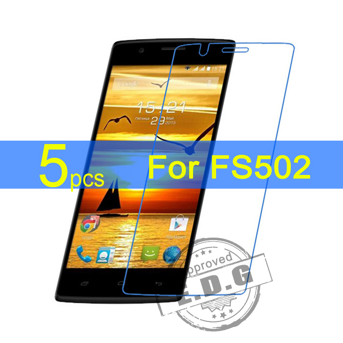 5pcs Ultra Clear LCD Screen Protector Film Cover For Fly FS502 Protective Film  cloth free