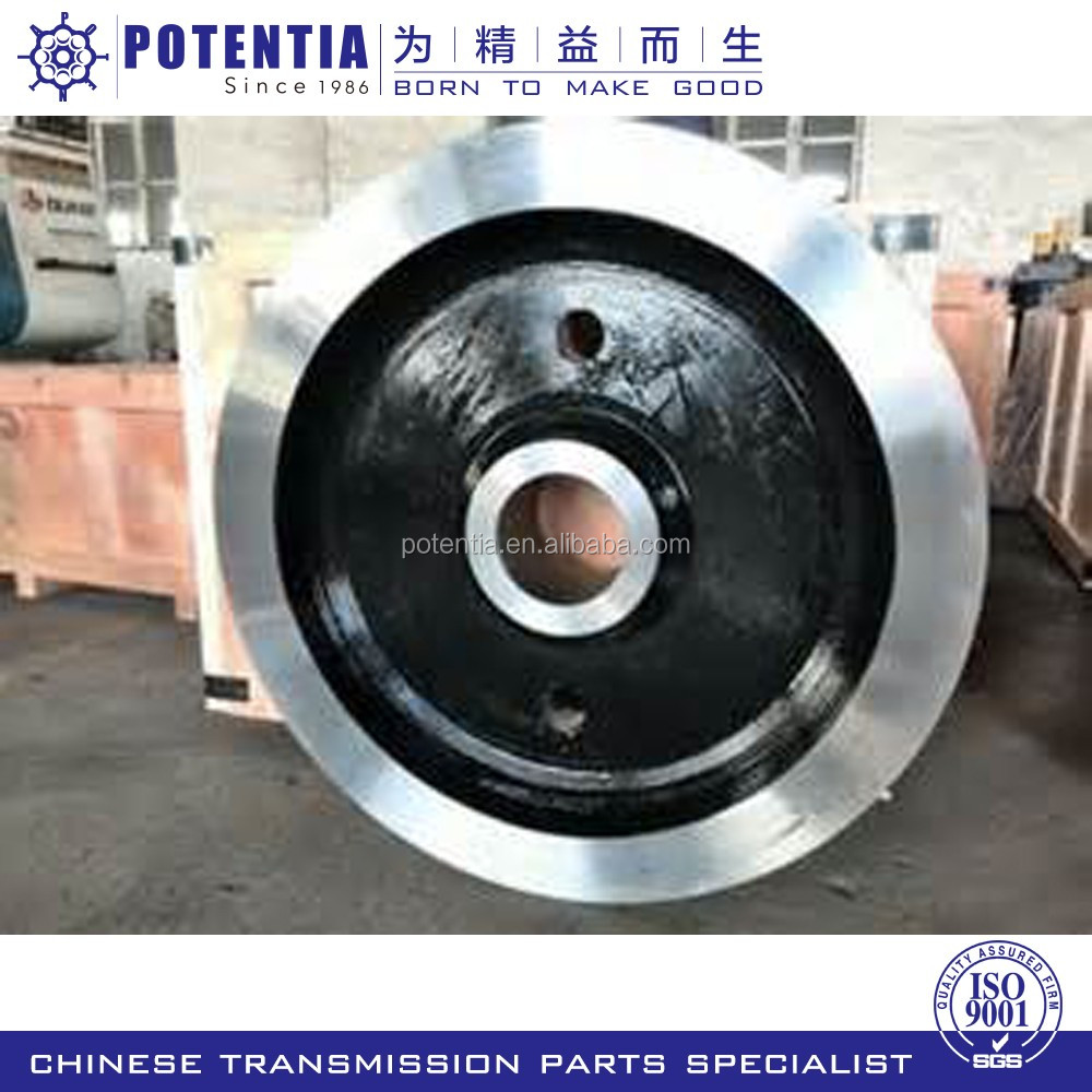 High quality forged and casted steel bridge crane rail wheels factory in China