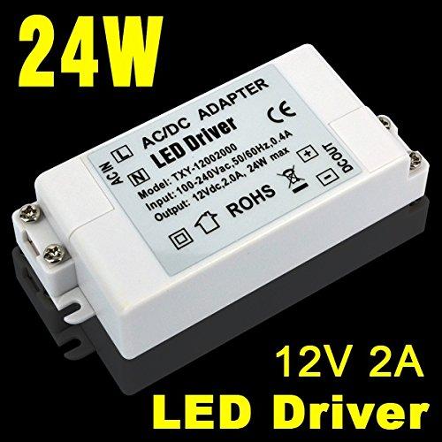Eforlighting New12V 2A 24W Led Power Supply LED Driver AC DC adapter 100V-240V Power Supply Lighting Transformer for LED Lamp Strip 110V 220V