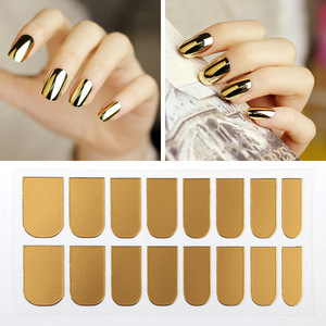 Popular mirror effect nail powder nail stikers european style nail art pure color 3d decorations for girl