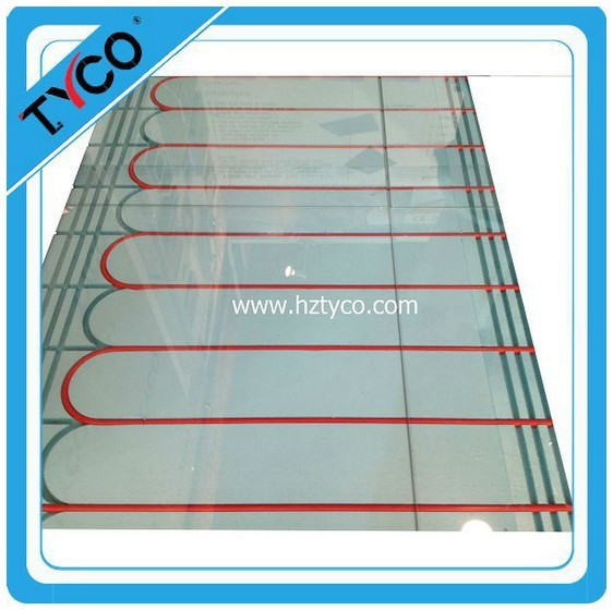 Water heated insulation board