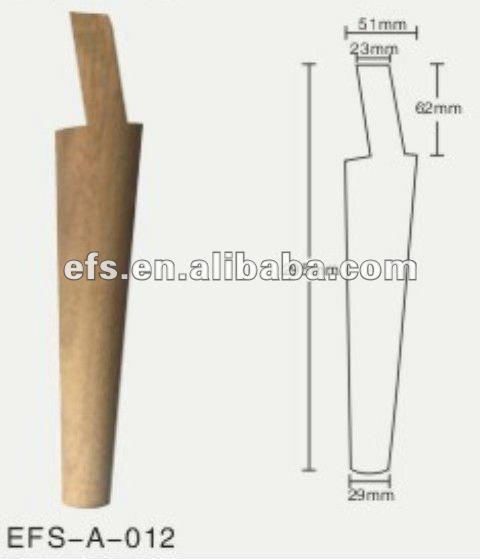 Pas cher unfinished longues conique en bois lit jambes - Pied de table conique bois ...