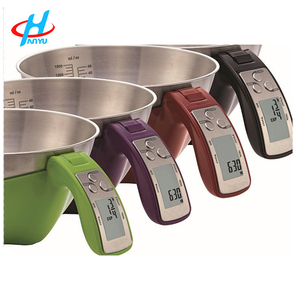 EK6550 digital electronic stainless steel plastic measuring cup scale for kitchen