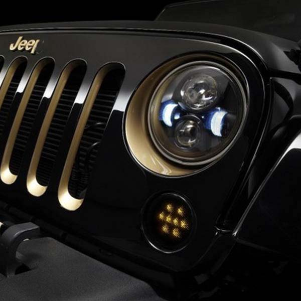 "2019 Hot Selling High/Low Beam 7"" Wrangler Auto LED Headlight LED Driving Light 7inch Offroad Chrome Color"