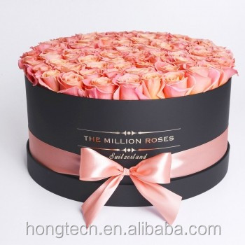 Luxury cardboard packaging boxes shipping round boxes for flower bouquet packing of Mother's Day