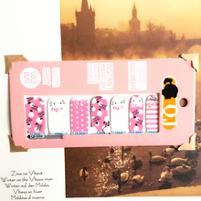 Pink White point cat child Nail Arts Nail Sticker Waterproof Nail Decal Sticker Gel Polish French