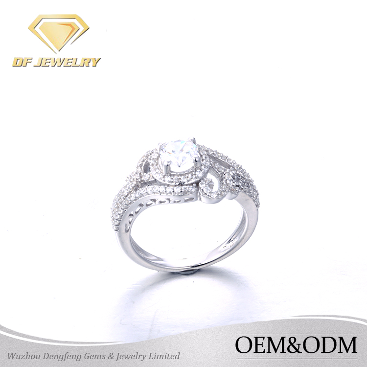 Best selling products 925 silver big stone rings acessories women jewelry