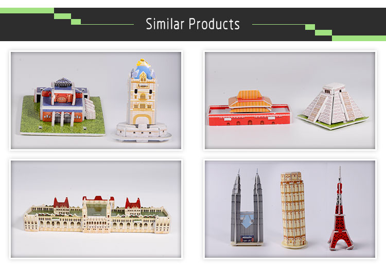 Educational 3d puzzles model / foam jigsaw puzzles paper craft diy making 3d puzzle