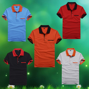 Wholesale summer men's POLO shirt short sleeve lapel T-shirt advertising shirt