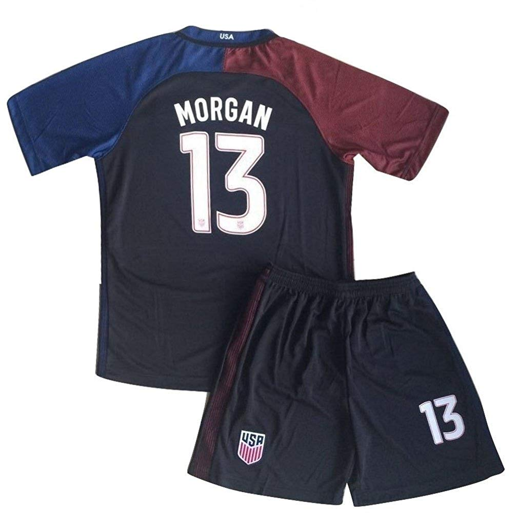 b32fdc3a0 Get Quotations · Morgan Jersey and Shorts  13 New USA National 3rd Alex for  Kids Youth Black