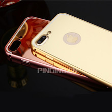 2017 Trending Products Hybrid PC+Metal Electroplated Mirror Phone Cases For i Phone7 iPhone7 Plus Case