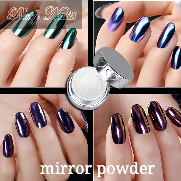 Pigmento orgánico estilo nail Magic espejo metálico pigmento en ...