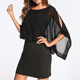 A3467 Trendy boutique black office wear formal mature sequin Drop ship Korean dress