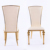 luxury golden stainless steel hotel chair dining chair