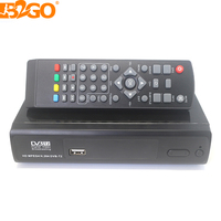 B2GO Best Factory Price Digital TV decodificador receiver DVB-T2 WiFi and optional 100M RJ45 Ethernet LAN set top box HD