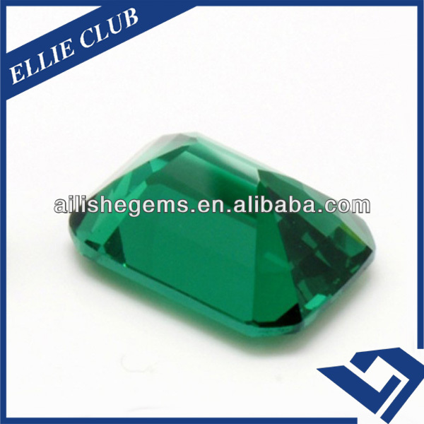 srilanka natural emerald bead step cut loose gems