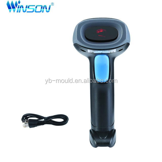 Winson WNL-5000 1D single-line laser barcode scanner with stand