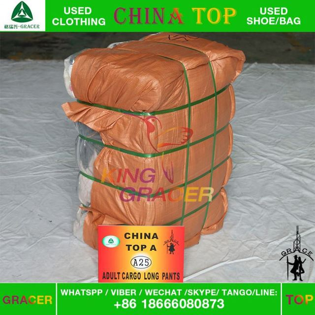 Stock Small Bales Bundle Mixed Long Pants used clothing hot sale in new jersey